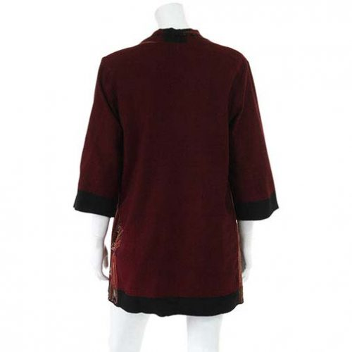Burgundy-Long-Shrug-Back