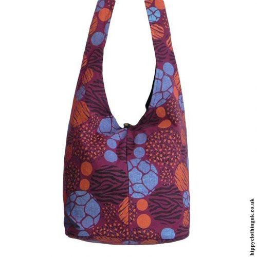 Burgundy-Patterned-Shoulder-Bag