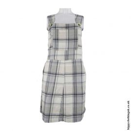 Cream-Grey-Checked-Dungaree-Dress
