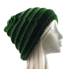 Green-Acrylic-Wool-Beanie-Hat
