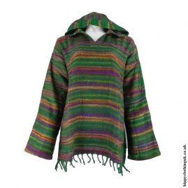 Green-Acrylic-Wool-Hooded-Top