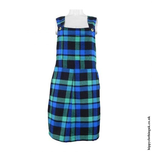 Green-Blue-Checked-Dungaree-Dress