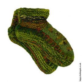 Green-Fleece-Lined-Wool-Socks