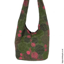 Green-Patterned-Shoulder-Bag