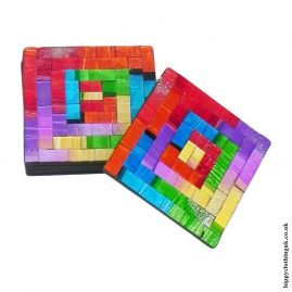 Multicoloured-set-of-6-Mosaic-Coasters