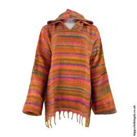 Orange-Acrylic-Wool-Hooded-Top