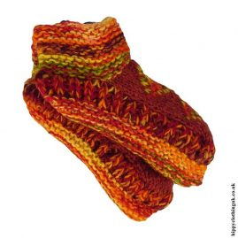 Orange-Fleece-Lined-Wool-Socks