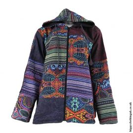 Patchwork-Fleece-Lined-Hooded-Jacket