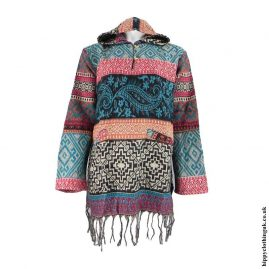 Patterned-Acrylic-Wool-Hooded-Top