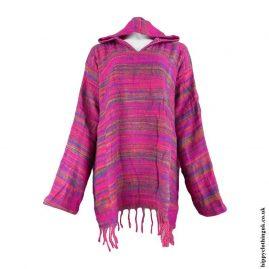 Pink-Acrylic-Wool-Hooded-Top