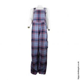 Pink-and-Blue-Checked-Dungarees