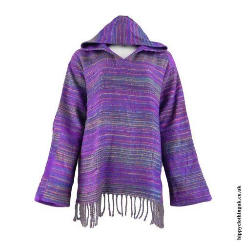 Purple-Acrylic-Wool-Hooded-Top