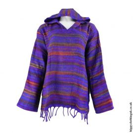 Purple-Acrylic-Wool-Hooded-Top