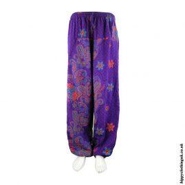 Purple-Patterned-Harem-Hippy-Trousers