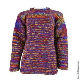 Purple-Tie-Dye-Hippy-Wool-Jumper