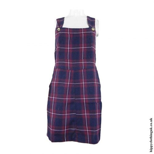 Red-Blue-Checked-Dungaree-Dress