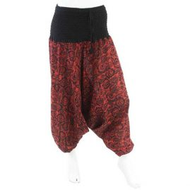 Red-Flower-Harem-Ali-Baba-Trousers