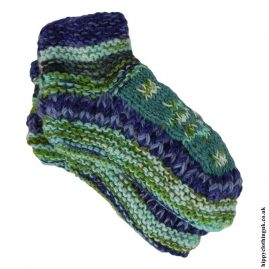 Turquoise-Fleece-Lined-Wool-Socks