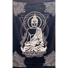 Black-Single-Buddha-Throw