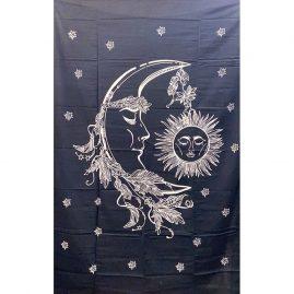 Black-Single-Sun-and-Moon-Throw