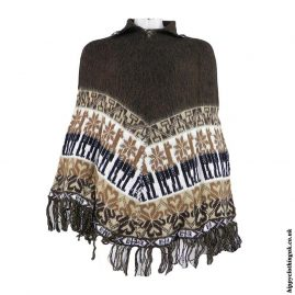 Brown-Alpaca-&-Acrylic-Wool-Poncho