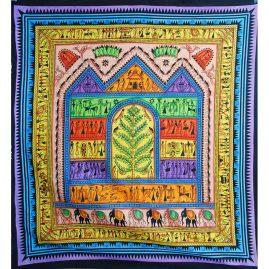 Mulitcoloured-Arty-House-Hippy-Cotton-Throw
