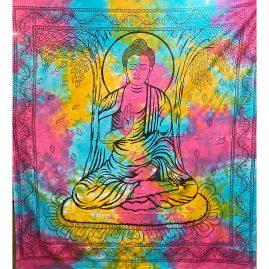 Multicoloured-Tie-Dye-Buddha-Throw