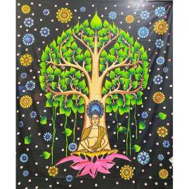 Multicoloured-Tie-Dye-Buddha-Throw-bed-spread