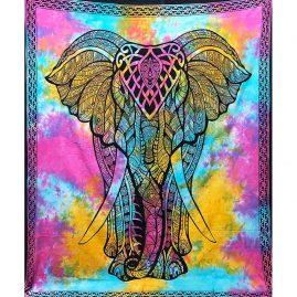 Multicoloured-Tie-Dye-Elephant-Throw