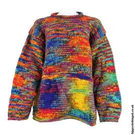 Multicoloured-Tie-Dye-Hippy-Wool-Jumper