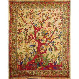 Orange-Tree-of-Life-Cotton-Throw