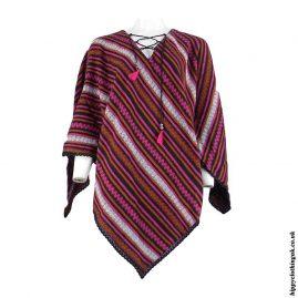 Rust-Striped-Acrylic-Wool-Poncho