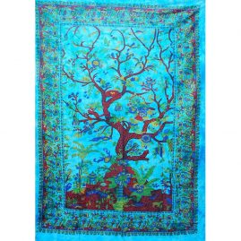 Turquoise-Tree-of-life-Throw-Wall-Hanging