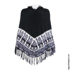 Black-Alpaca-&-Acrylic-Wool-Poncho