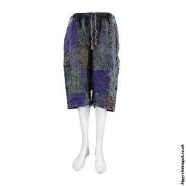 Blue-Patchwork-Hippy-Shorts