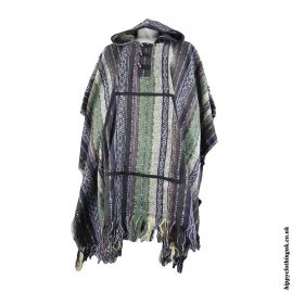 Brown-Cotton-Thick-Weave-Hippy-Poncho