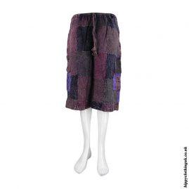 Burgundy-Patchwork-Hippy-Shorts