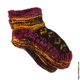 Dark-Mix-Fleece-Lined-Wool-Socks