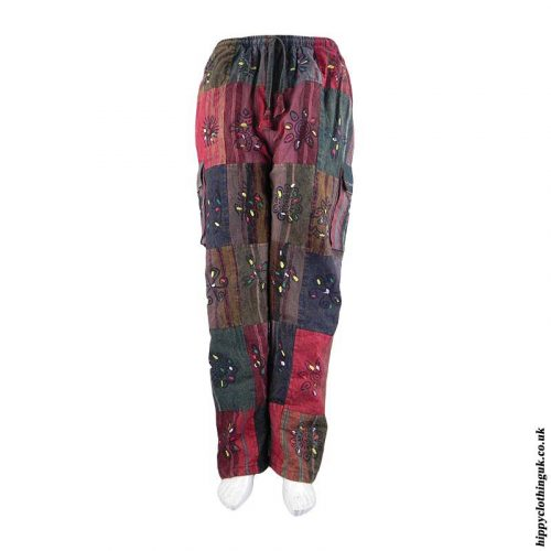 Fleece-Lined-Patchwork-Hippy-Trousers