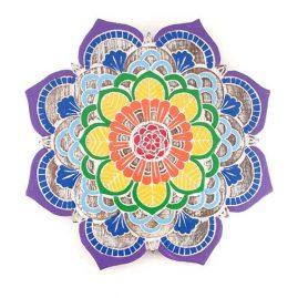Flower Mandala Wooden Hanging Plaque