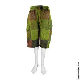 Green-Patchwork-Hippy-Shorts