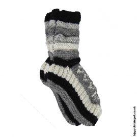 Grey-Long-Fleece-Lined-Wool-Socks