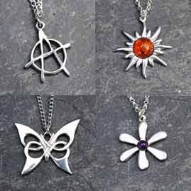 Cornish Pewter Pendants, Necklaces