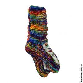 Multicoloured-Long-Fleece-Lined-Wool-Socks