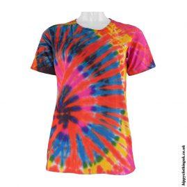 Multicoloured Short Sleeve Tie Dye T-Shirt