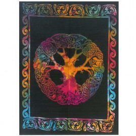 Tie-Dye-Celtic-Tree-Wall-Hanging,-Wall-Art