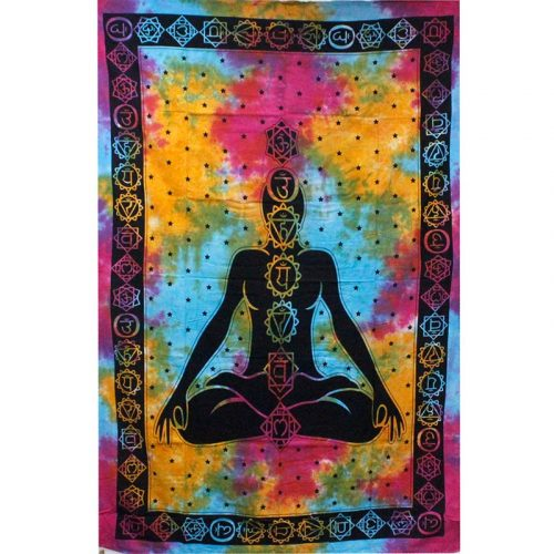 Tie-Dye-Chakra-Throw,-Wall-Hanging,-Bed-Spread
