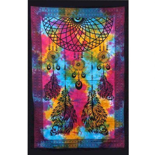 Tie-Dye-Dreamcatcher-Throw,-Wall-Hanging,-Bed-Spread