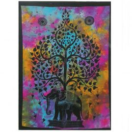 Tie-Dye-Elephant-Tree-Wall-Hanging,-Wall-Art