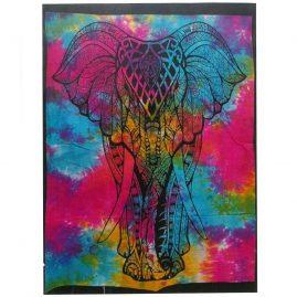 Tie-Dye-Elephant-Wall-Hanging,-Wall-Art